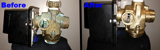 Fleck Valve Rebuild Before and After
